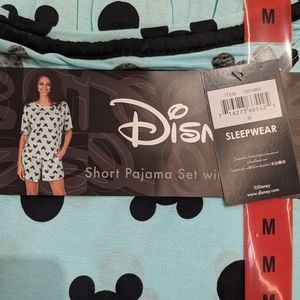 NWT Disney Short Pajama Set with Pockets